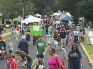 The Whistle Stop Festival is the largest annual community event.